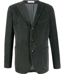 boglioli corduroy single breasted blazer - black