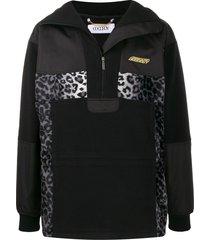 goodboy contrast paneled hoodie - black