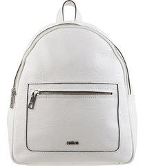 mochila de cuero blanca prüne