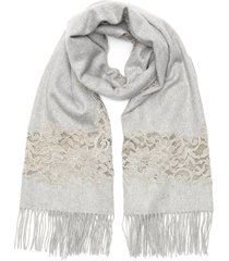 floral lace embroidered cashmere scarf