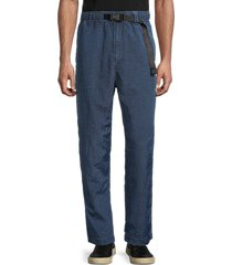 diesel men's p-berg crinkle nylon pants - classic blue - size xxl