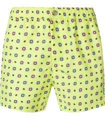 kenzo printed swim shorts - yellow