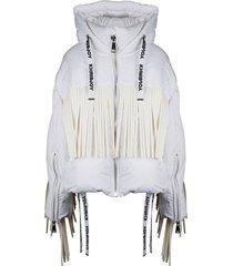 khris leather fringes jacket