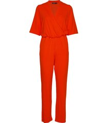 slgenevieve jumpsuit 1/2 jumpsuit rood soaked in luxury