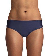 ruched-side bikini bottom