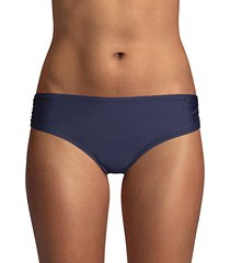 ruched-side bikini bottom