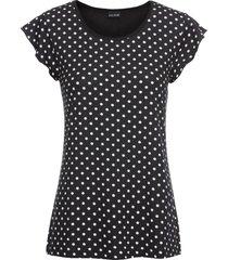 maglia in jersey a pois (nero) - bodyflirt