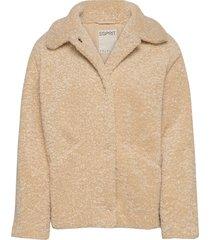 jackets indoor woven outerwear faux fur beige esprit casual
