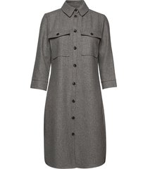 lr-gunilla jurk knielengte grijs levete room