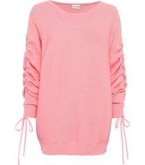 maglione con maniche arricciate (rosa) - bodyflirt