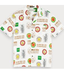 scotch & soda katoenen overhemd met print | hawaii fit