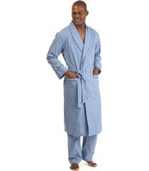 nautica men's woven plaid robe