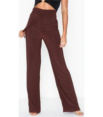 nly one high waist tie pant byxor