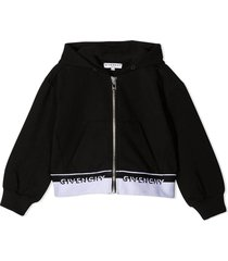 givenchy black cotton-blend hoodie