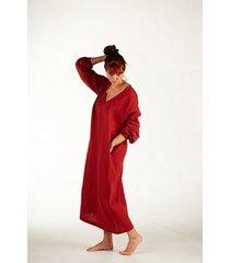 damska koszula nocna - rudy