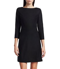 kamillina virgin wool shift dress