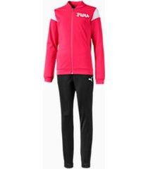 poly trainingpak, roze, maat 128 | puma
