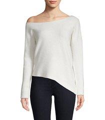 off-shoulder cashmere sweater