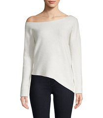 off-shoulder cashmere sweater