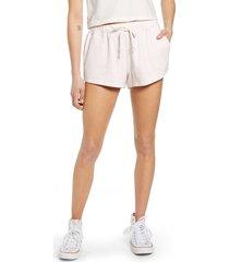women's rip curl organic cotton fleece shorts