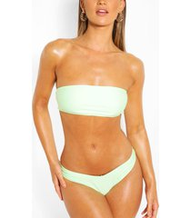 mix & match bandeau bikini top, mint