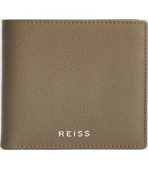 reiss cabot - leather wallet in clay, mens