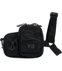 y-3 multi-pocket shoulder bag - black