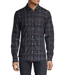 slim fit reid plaid button-down shirt