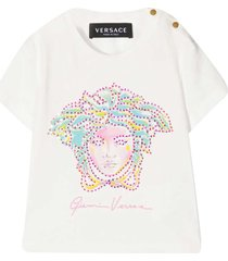 young versace white t-shirt with application