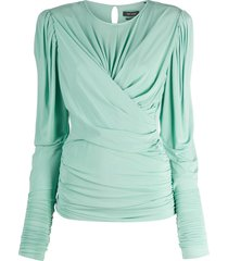 isabel marant wraparound style top - green