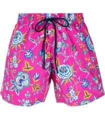etro floral print swim shorts - pink