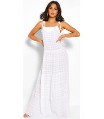 cheesecloth tiered maxi dress, white