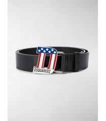 dsquared2 patriot buckle belt