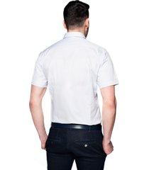 koszula bexley 2499 krótki rękaw custom fit szary