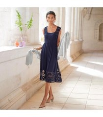 sundance catalog women's angelina dress in navy large