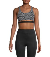 koral women's spring printed sports bra - white vertex - size s
