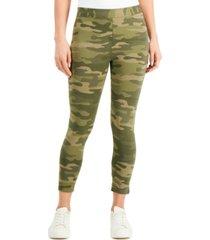 style & co camo-print capri leggings, created for macy's