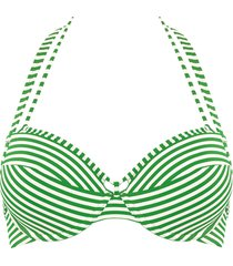 holi vintage push up bikini top | wired padded green-ivory - 32f