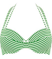 holi vintage push up bikini top | wired padded green-ivory - 34b