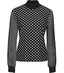 maglia con maniche in chiffon (nero) - bodyflirt