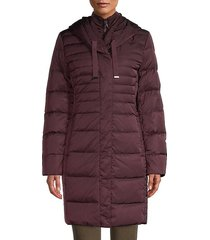 down-filled long puffer jacket