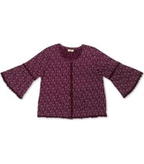 style & co lantern sleeve blouse, created for macy's