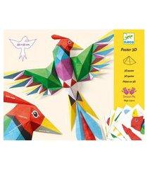 poster 3d - amazônia - djeco - dj09448 - multicolorido