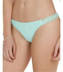 bikini calzón con vivos lateral verde h2o wear