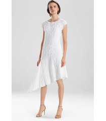 sofia dress, women's, white, cotton, size 4, josie natori