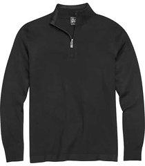 jos. a. bank men's traveler black modern fit 1/4 zip mock neck sweater - size: 3x