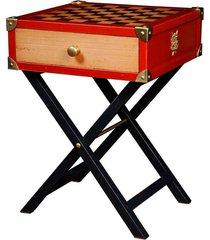 mesa lateral de madeira decorativa nelli