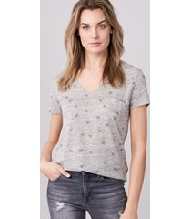 linnen t-shirt met vlinderprint
