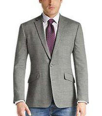 awearness kenneth cole gray tic slim fit sport coat