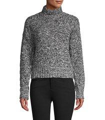 turtleneck cotton-blend sweater